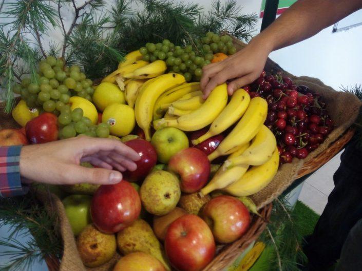Stand de fruta en Zaragoza