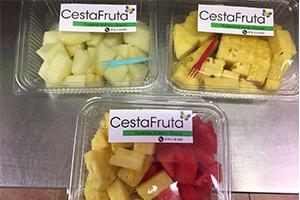 bandeja de fruta cortada para oficinas