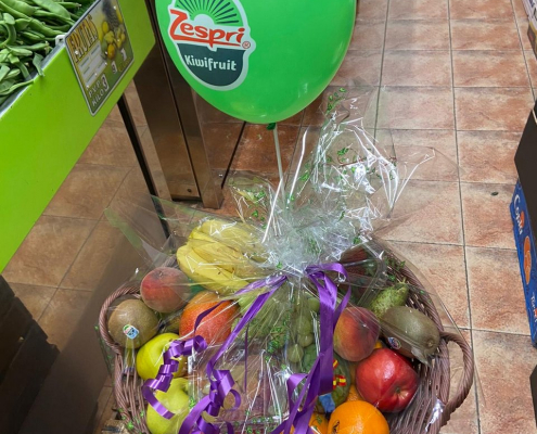 Cestas de fruta para cumpleaños