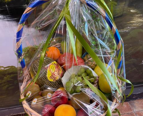 cesta de fruta y verdura para regalo en Zaragoza
