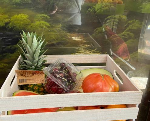 caja de fruta y verdura para regalo